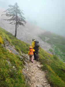 Wandern auf dem Klettersteig