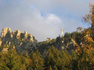 Tegelbergbahn, Gondel auf den Tegelberg im Abendlicht
