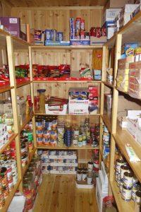 Vorratsraum für Lebensmittel in einer norwegischen Selbstversorgerhütte