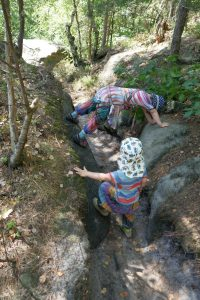 Turnen an den Felsen der Sächsischen Schweiz